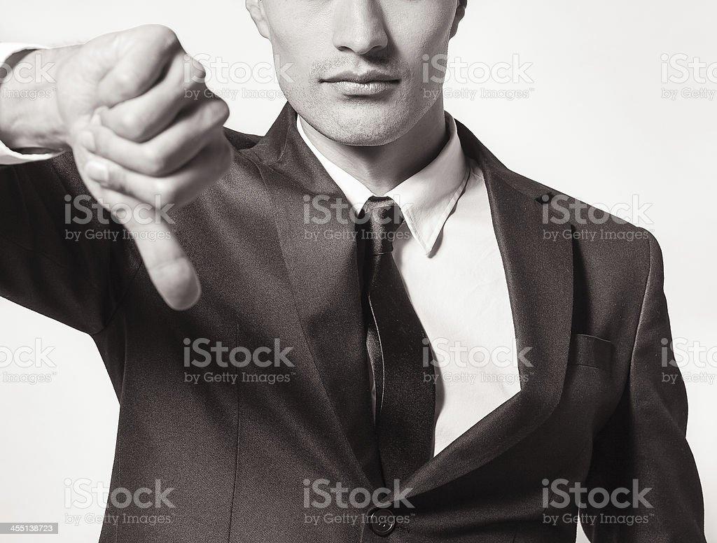 Thumbs down stock photo