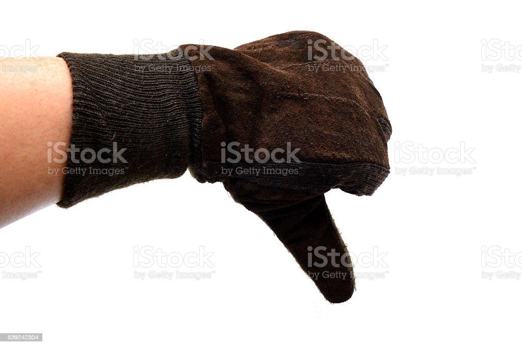 Señal de pulgar hacia abajo foto de stock libre de derechos
