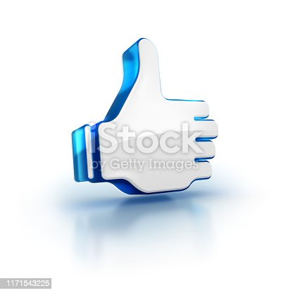 693589426istockphoto thumbs up 3D rendered illustration icon on white isolated background 1171543225