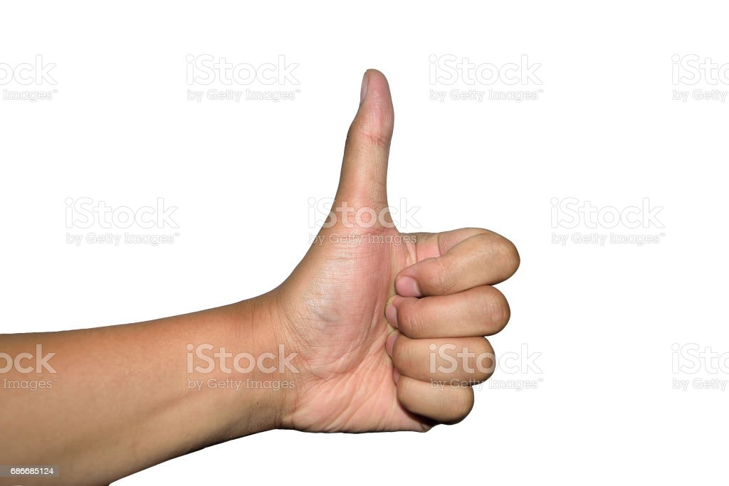 Thumbs Up and like Hand Human fingers with isolated stock photo