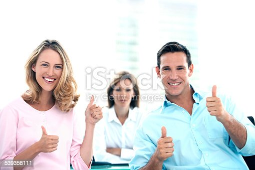 istock Thumbs up at the Bank 539358111