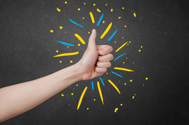 Thumbs up buddy! stock photo