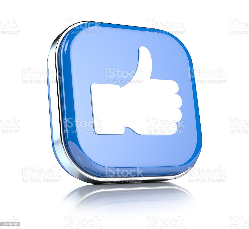 Thumbs up button royalty-free stock photo
