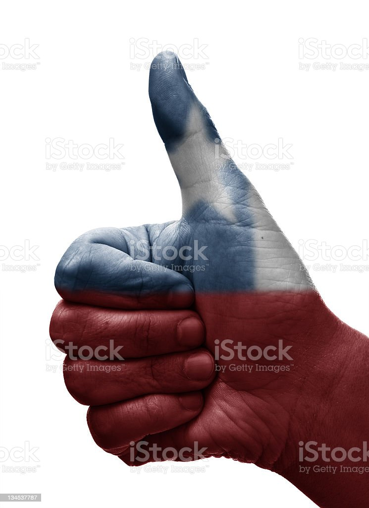 Thumbs up Chile royalty-free stock photo