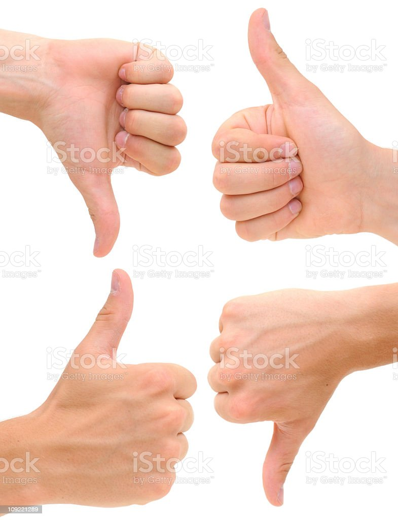 Thumbs Up & Down XXXL royalty-free stock photo