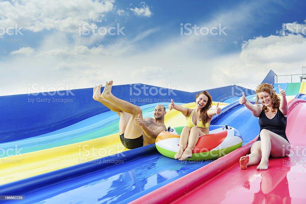 thumbs up for aquapark royalty-free stock photo