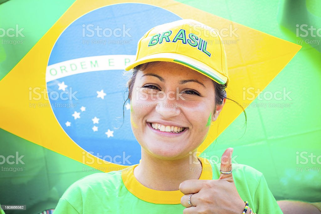 Thumbs Up for Brazil royalty-free stock photo