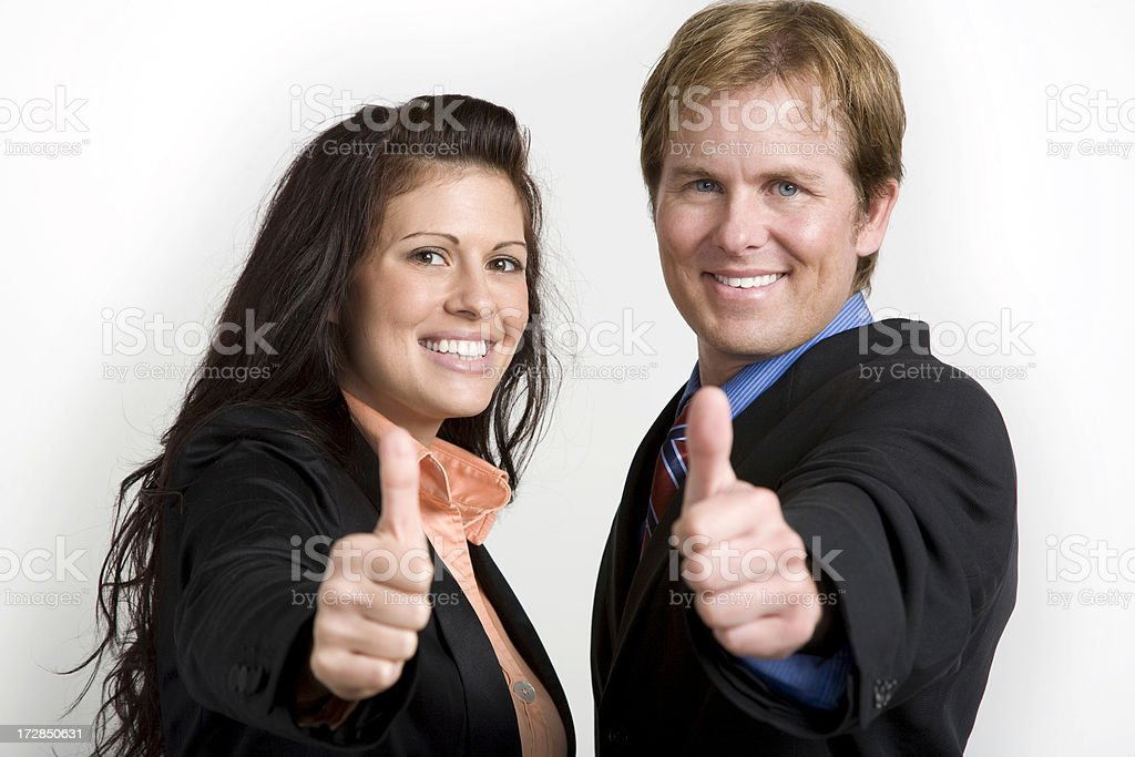 Thumbs Up from Business Team royalty-free stock photo