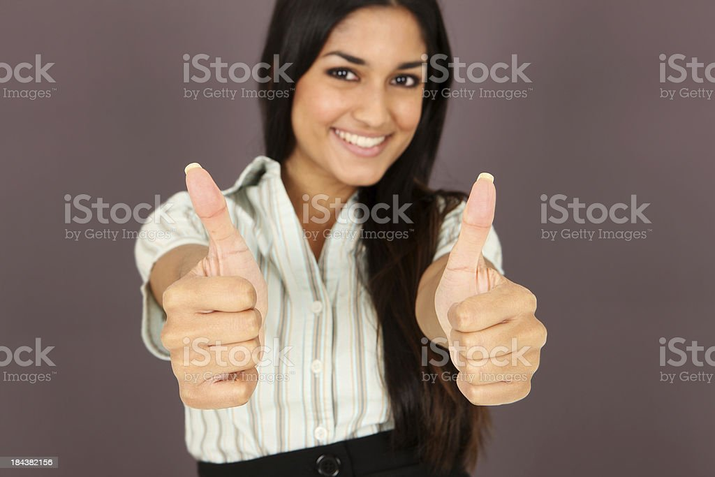 Thumbs Up! Go For It! royalty-free stock photo
