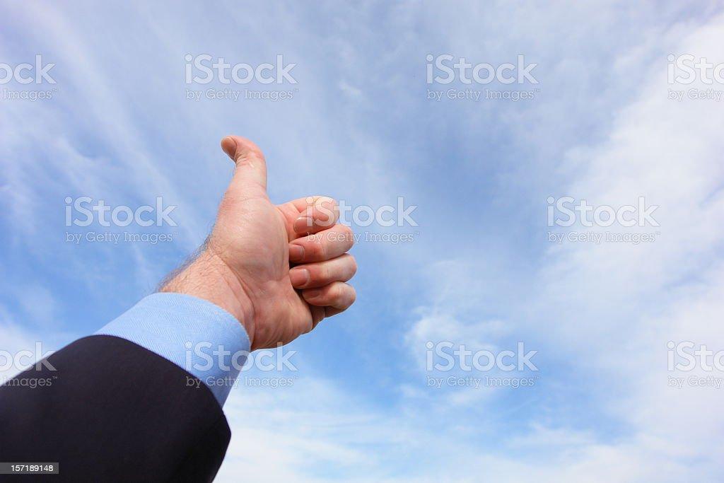 Thumbs Up Horizontal royalty-free stock photo