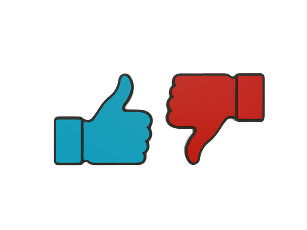 Thumbs Up Icon, Thumbs Down Icon stock photo