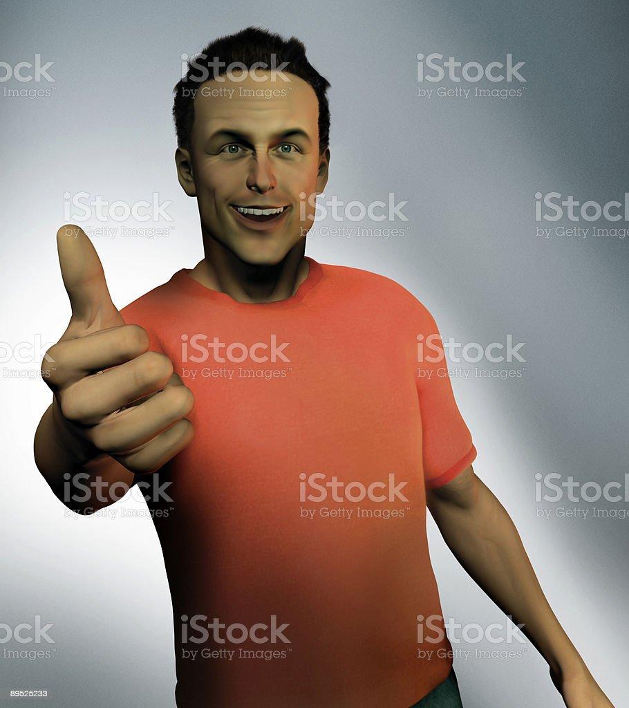 Hombre pulgar hacia arriba foto de stock libre de derechos