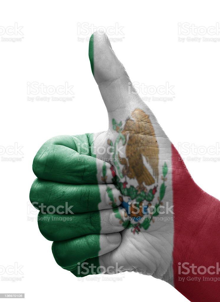 Thumbs up Mexico royalty-free stock photo