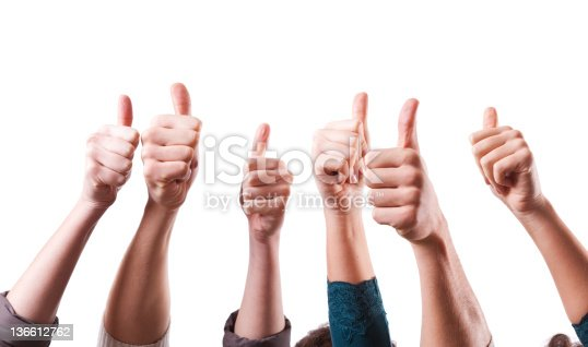 istock Thumbs Up on White Background 136612762