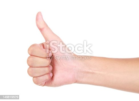 istock Thumbs up on white background 149819529