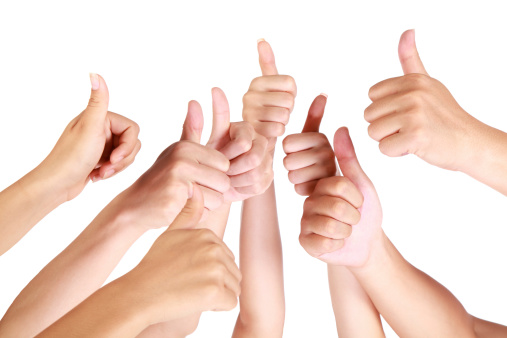 888892364 istock photo Thumbs up on white background 171338312
