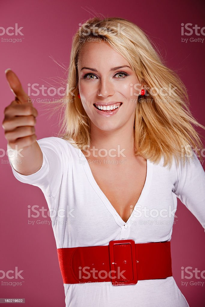 Thumb's up royalty-free stock photo