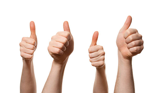 Thumbs up stock photo