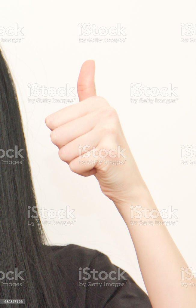 Thumbs up zbiór zdjęć royalty-free