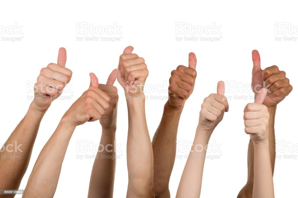 Thumbs up. stock photo