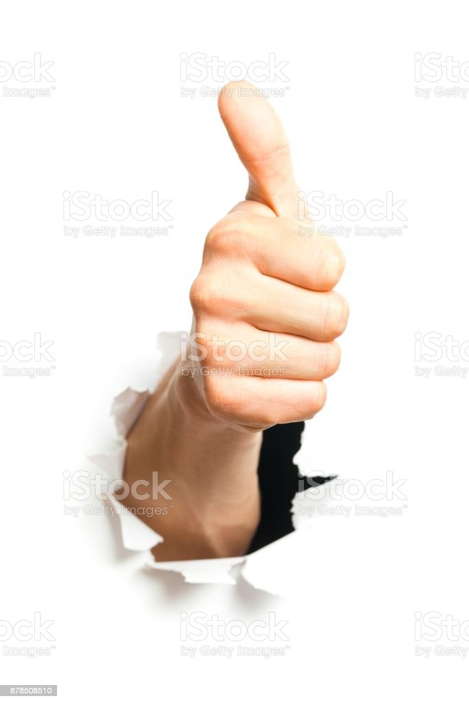 Thumbs up. stock photo