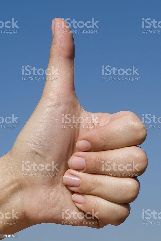 Kciuki w górę zbiór zdjęć royalty-free