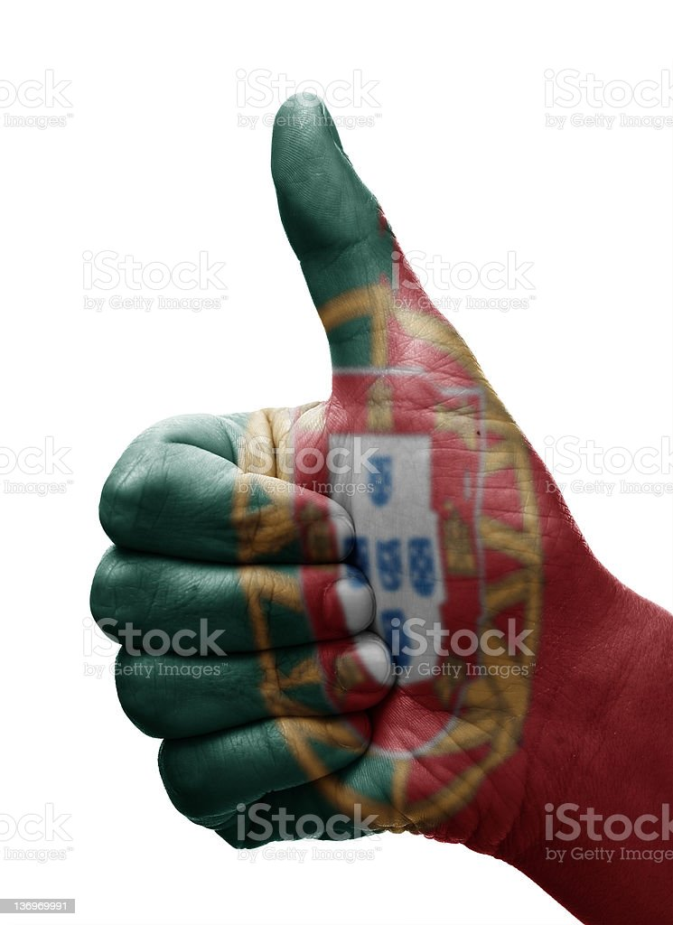 Thumbs up Portugal royalty-free stock photo