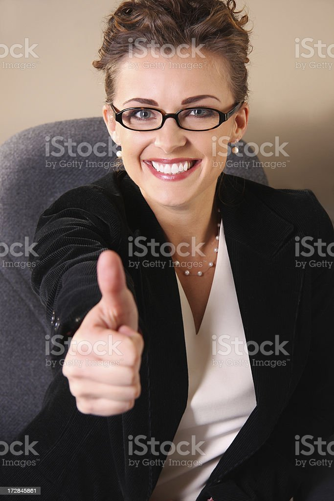 Thumbs up Smile royalty-free stock photo