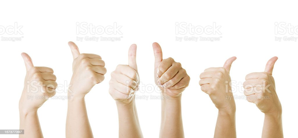 Thumbs up. Success!  (XXL) royalty-free stock photo
