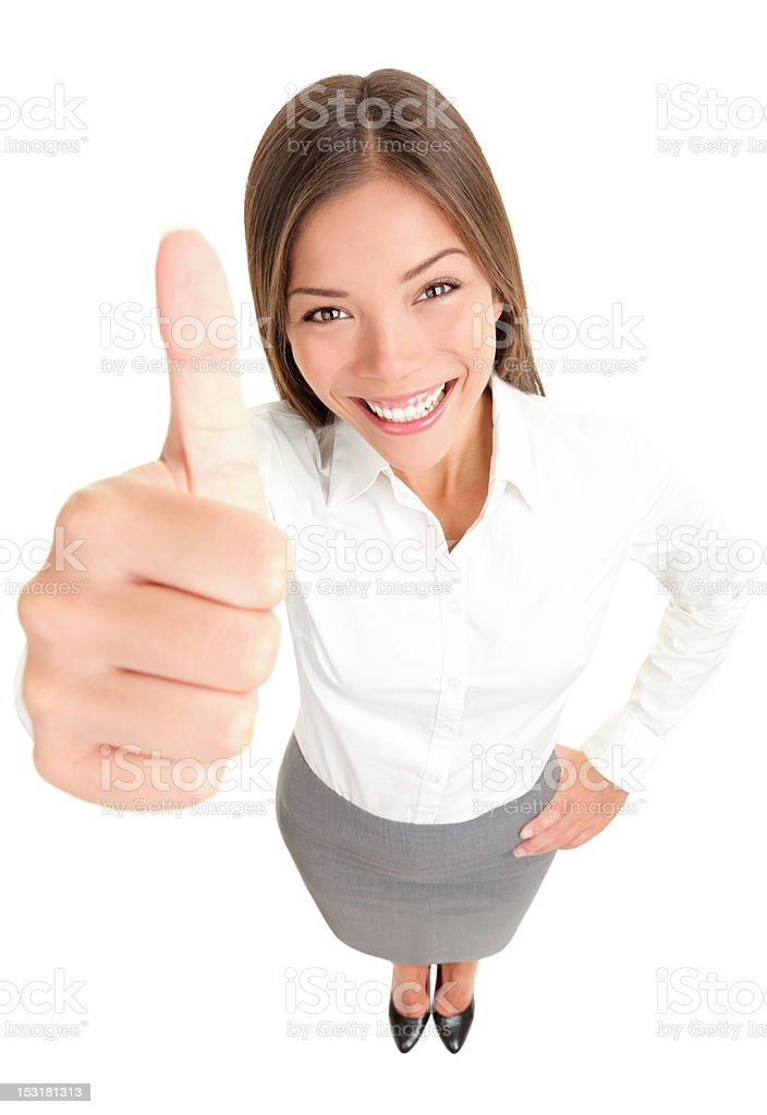 Thumbs up success woman royalty-free stock photo