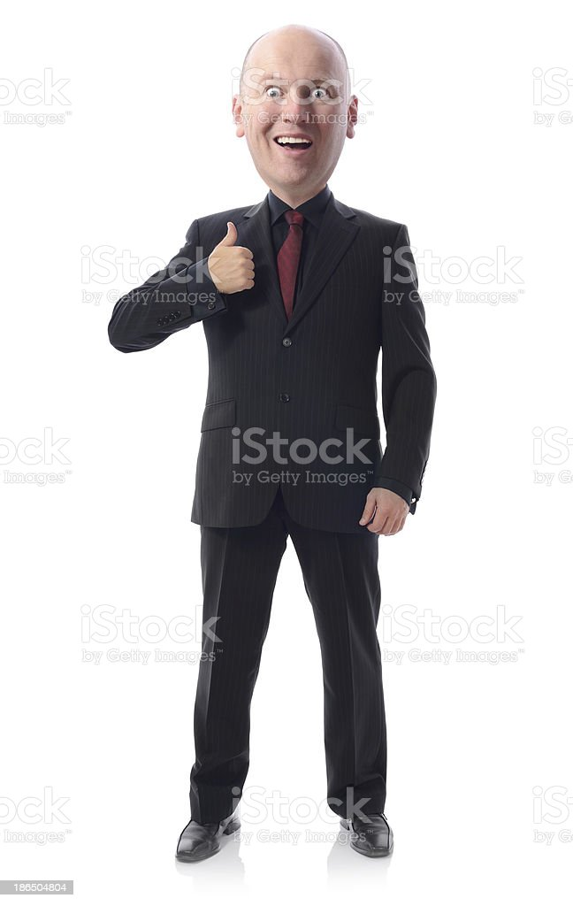 thumbs up suit royalty-free stock photo