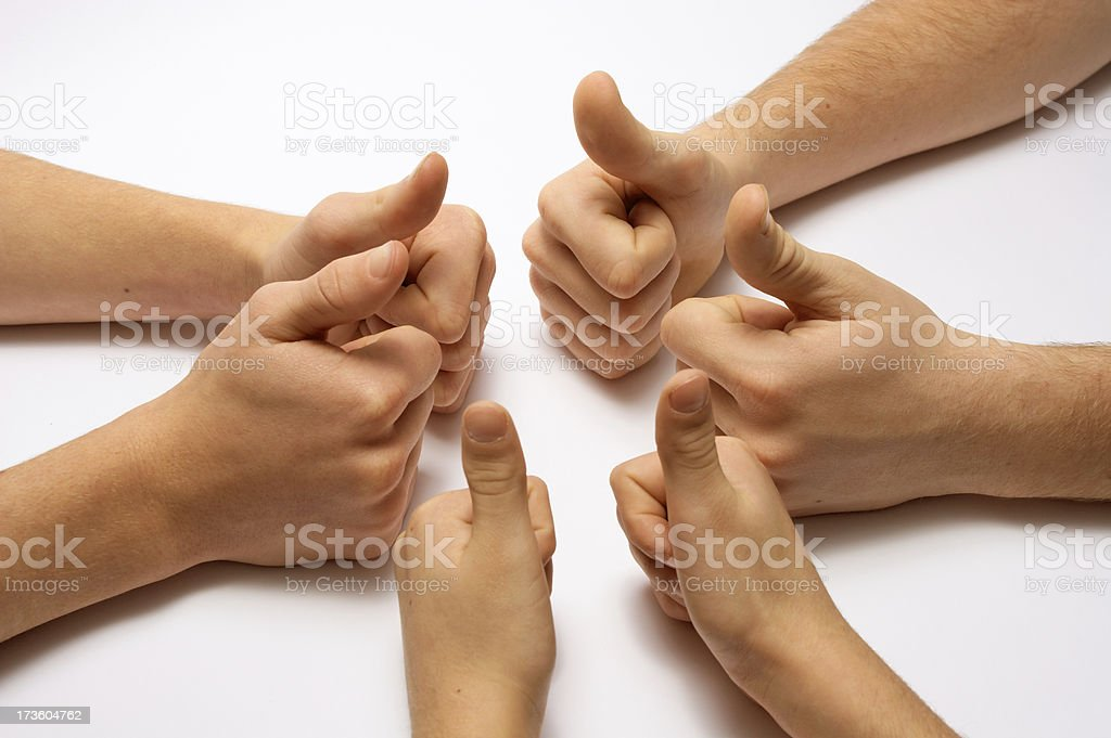 Thumbs up together. royalty-free stock photo