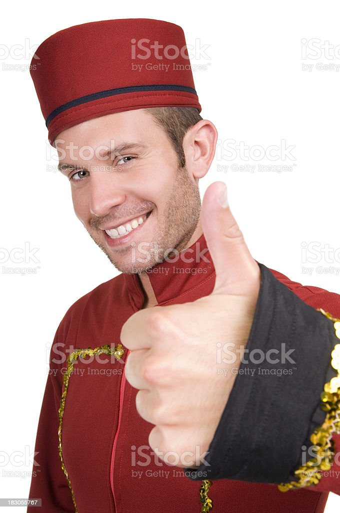 Thumbs Up Usher royalty-free stock photo