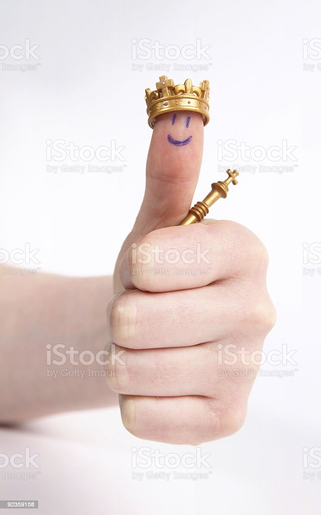 Thumbs up victory stock photo