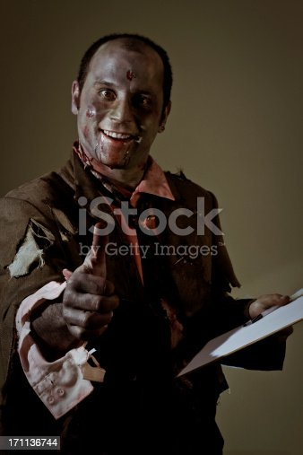 Thumbs Up Zombie Stock Photo & More Pictures of 30-34 Years
