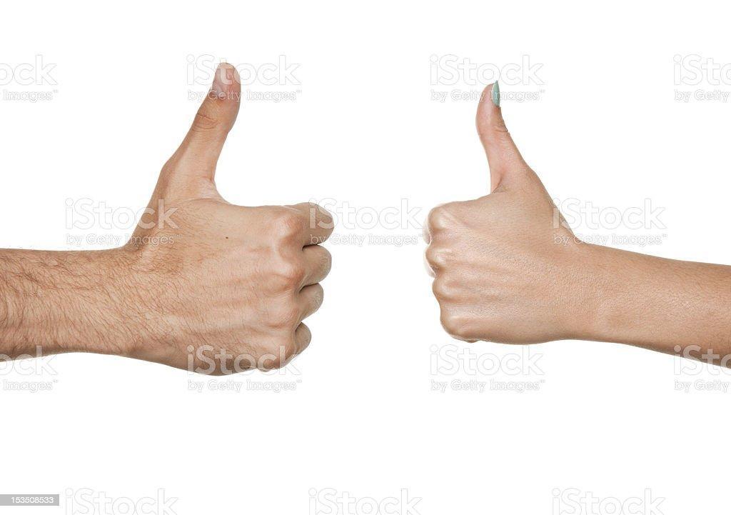 Thumbs Ups Sign royalty-free stock photo