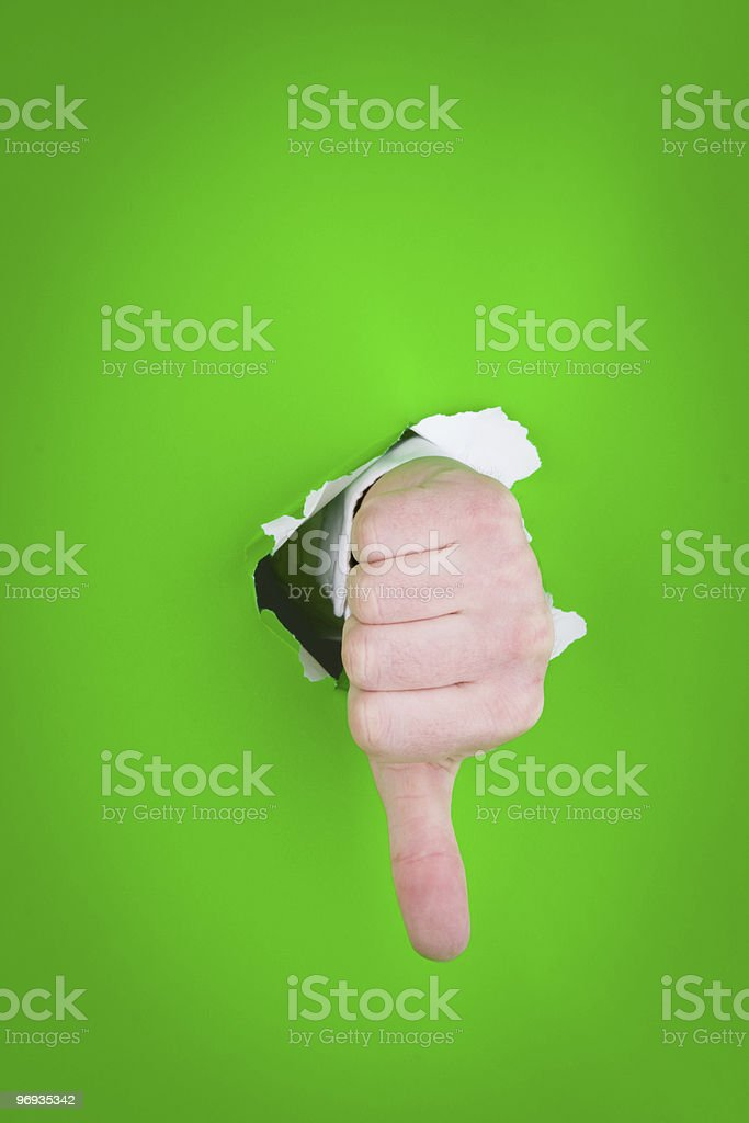 Thumbs-down sign royalty-free stock photo