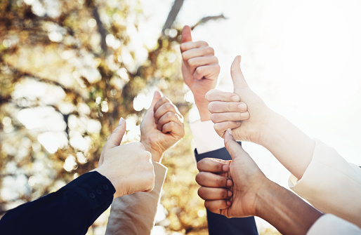 888892364 istock photo Thumbs-up to a great team 888892350