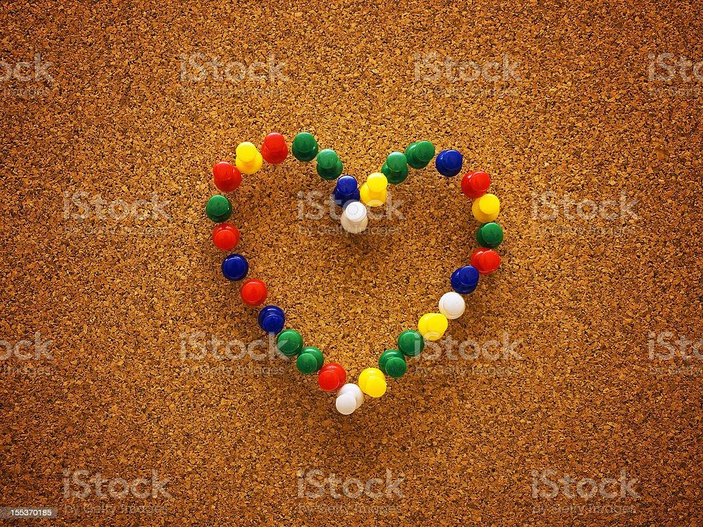 thumbtack heart royalty-free stock photo