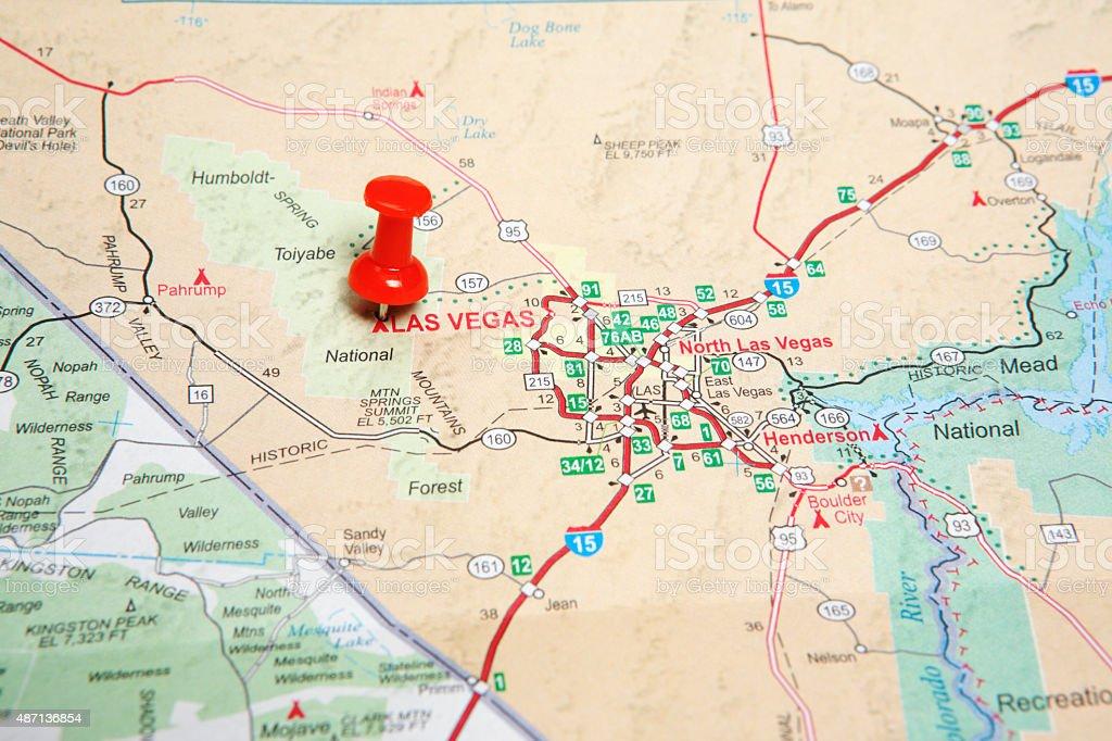 Royalty Free Cartography Map Las Vegas Metropolitan Area Straight