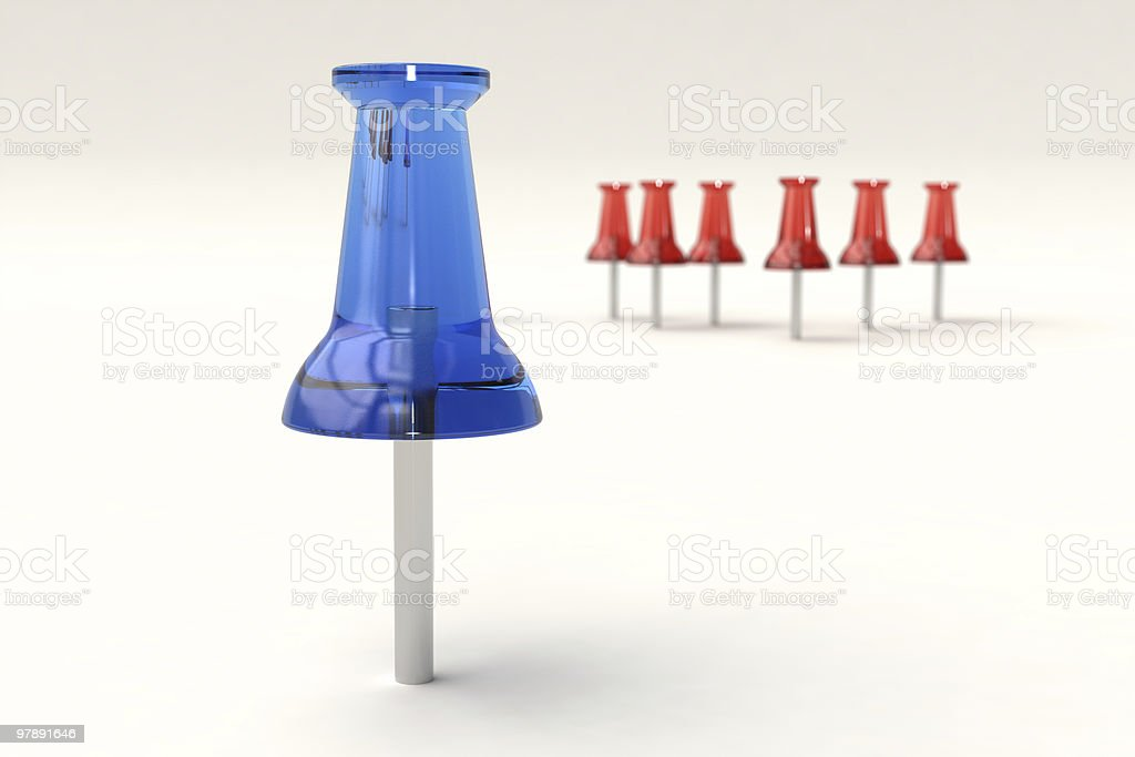 Thumbtack with depth of field royalty-free stock photo