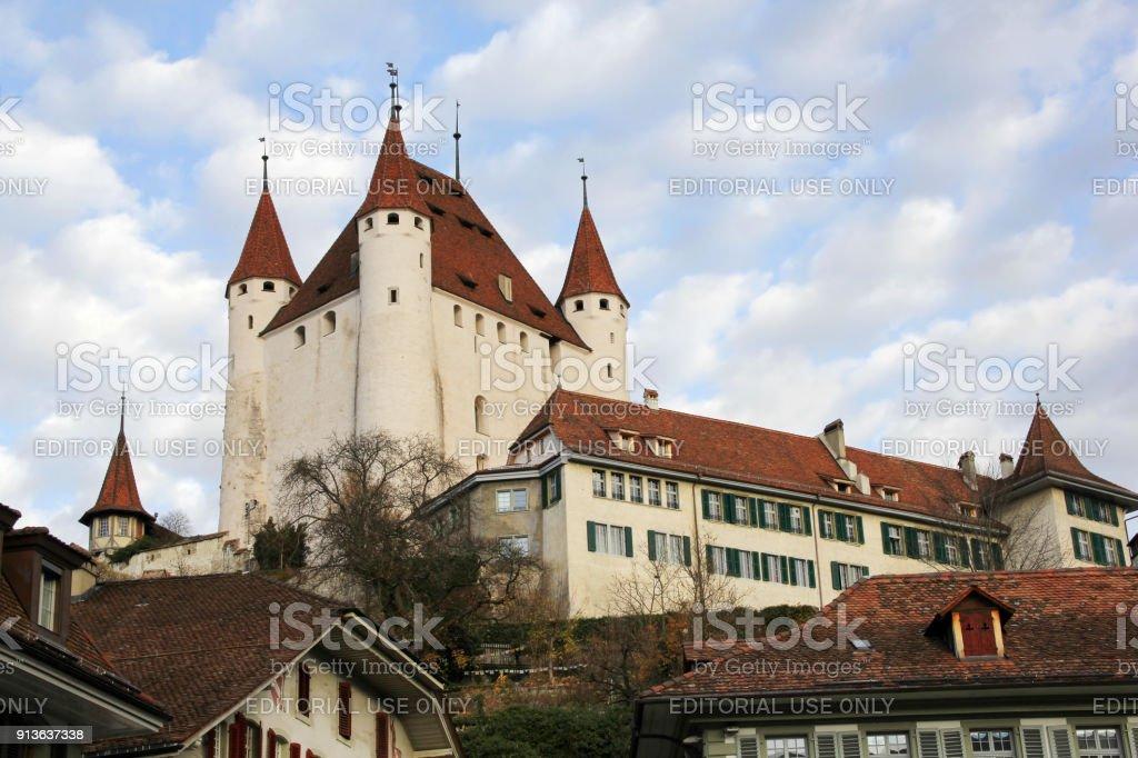 Thun Castle, Thun city, Switzerland stock photo