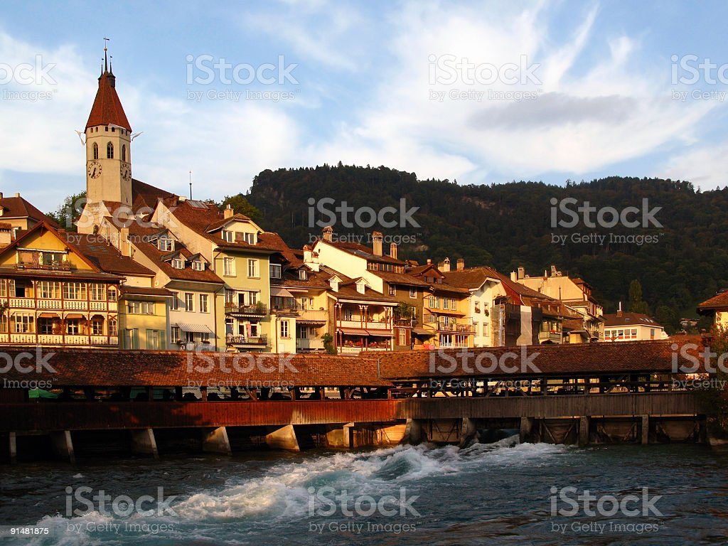 Thun city, Switzerland royalty-free stock photo