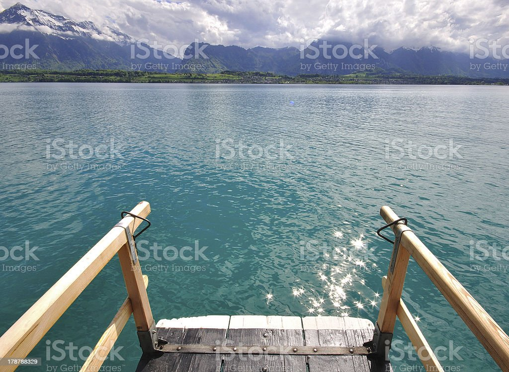 Thun lake in Switzerland royalty-free stock photo