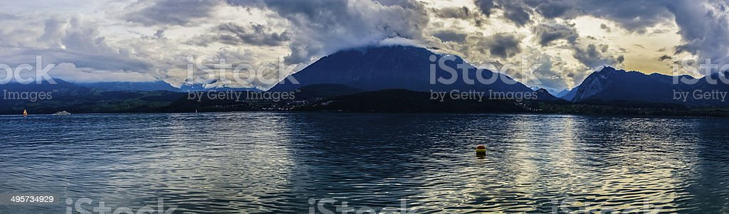 Thun lake royalty-free stock photo