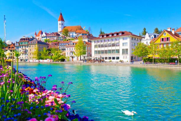 thun, schweiz - thun switzerland stock-fotos und bilder