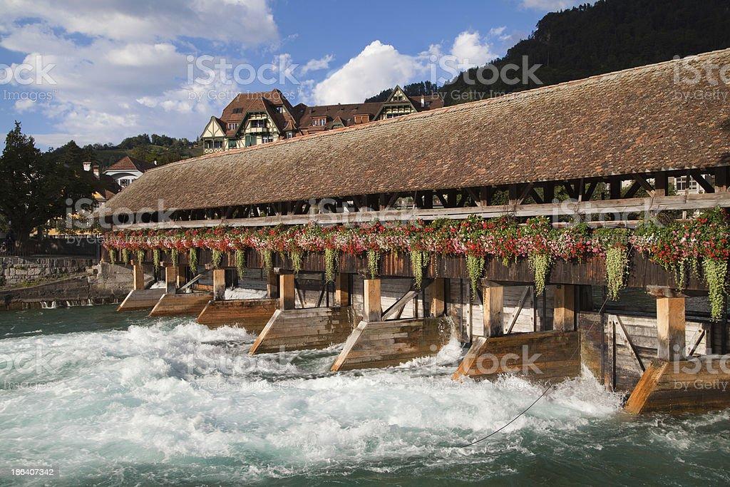 Thun Upper Sluice royalty-free stock photo