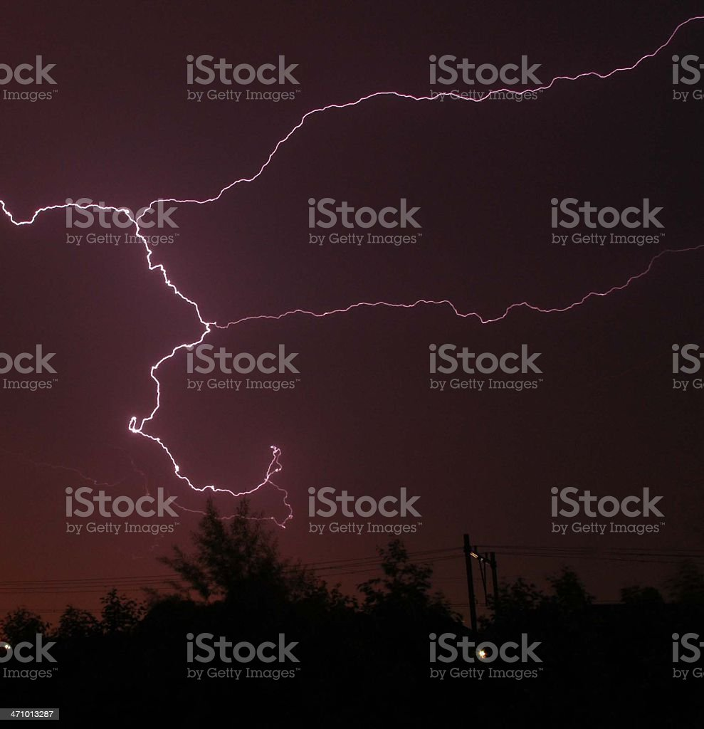 Thunder and Lightning royalty-free stock photo