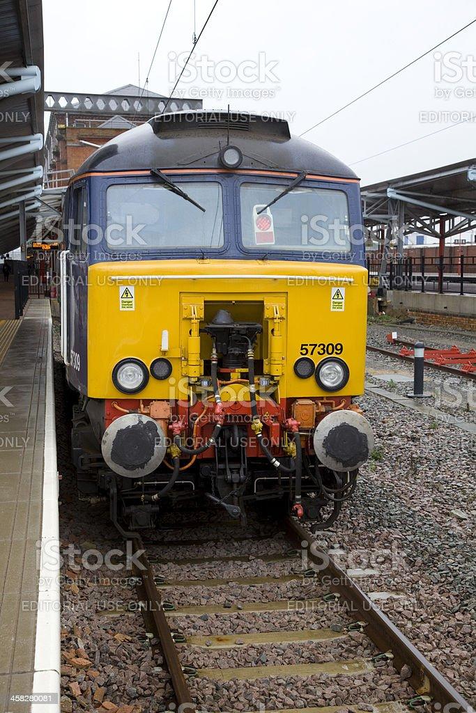 Thunder Bird Locomotive 57309 Rugby Railway Station royalty-free stock photo