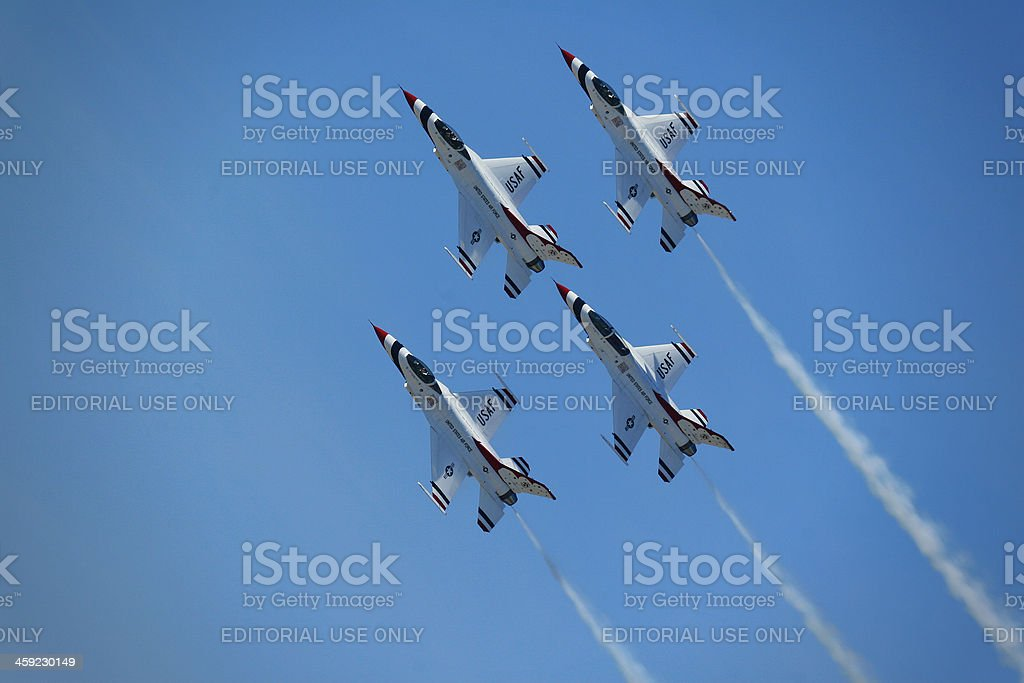 Thunder birds performing in formation royalty-free stock photo